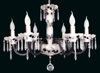 Glass chandelier EL6126183 mat