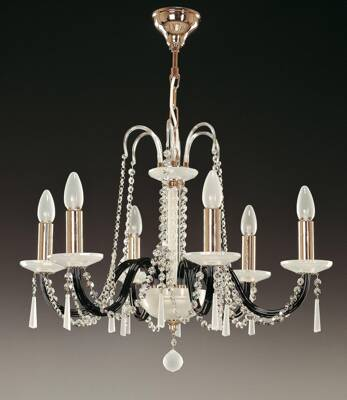 Glass chandelier EL210603Mat