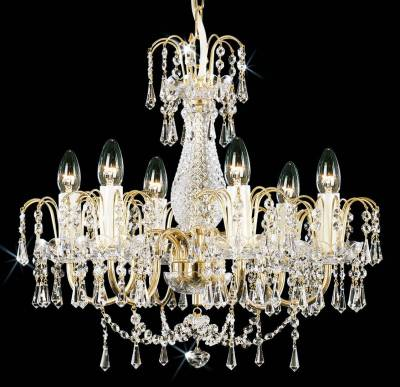 Chandelier with brass arms PS169