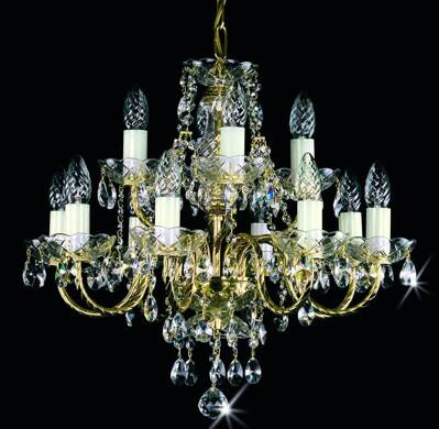 Chandelier with metal arms L183CE