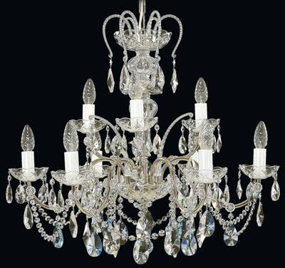 Chandelier with metal arms EL915902