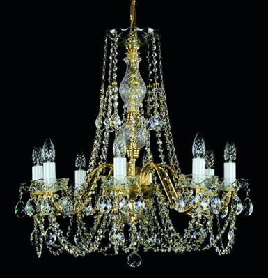 Chandelier with metal arms L185CE