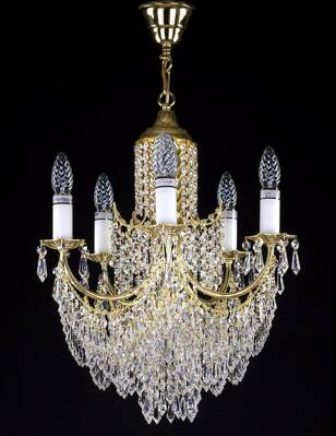 Chandelier with metal arms L264CE