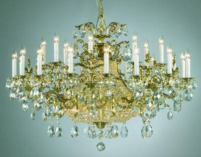 Chandelier brass PL138