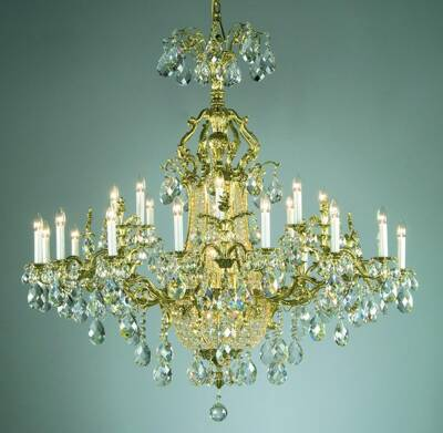 Cast brass chandelier large PL139
