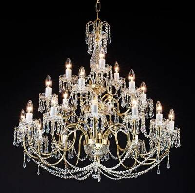 Chandelier with brass arms PAB059001021