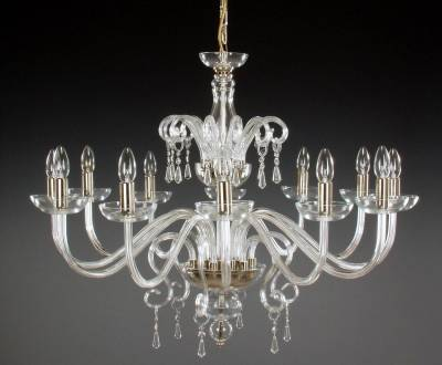 Clear Glass Chandelier AL057