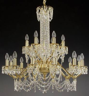 Chandelier - metal arms AL085