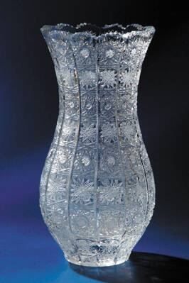 Vase cut crystal 80381