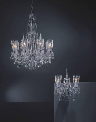 Chandelier cut crystal large TH021