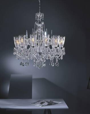 Chandelier cut crystal large TH020