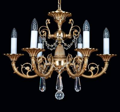 Brass chandeliers with trimmings EL8616091