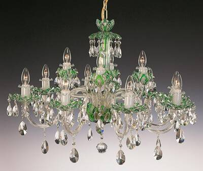 Crystal chandelier green EL6011215