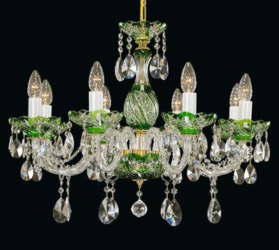 Crystal chandelier green EL666815