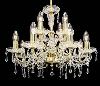 Chandelier with metal arms TX241000012