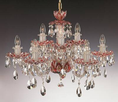 Crystal chandelier ruby EL601917
