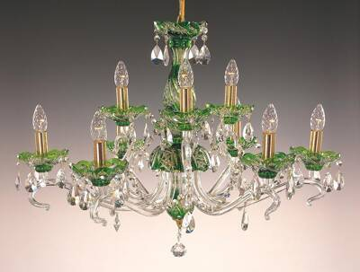 Crystal chandelier green EL660915