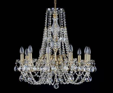 Chandelier with metal arms L187CL