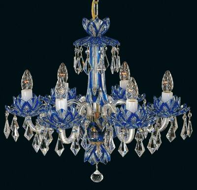 Crystal chandelier blue EL600613