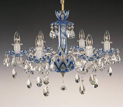 Crystal chandelier blue EL601613