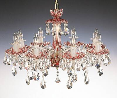 Crystal chandelier ruby EL601817