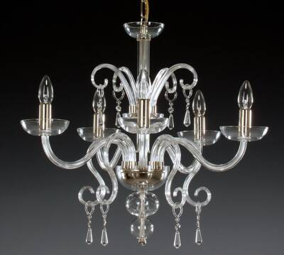 Clear Glass Chandelier AL058