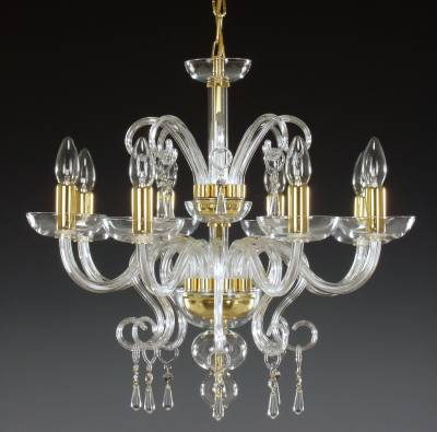 Clear Glass Chandelier AL059