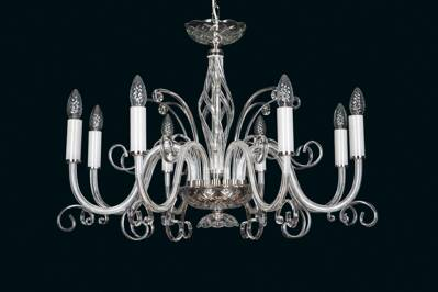 Clear Glass Chandelier EL416800
