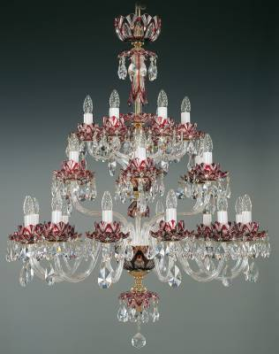 Crystal chandelier ruby EL6002417