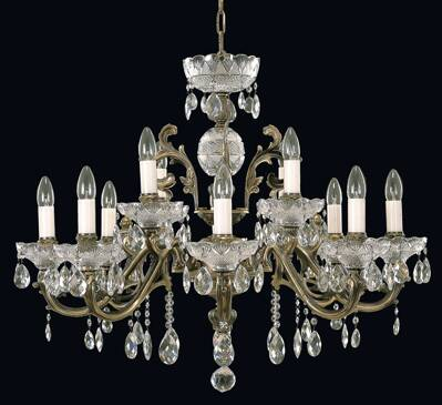 Brass chandelier EL8501201pt
