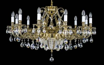 Luxury large brass chandelier L16421CE