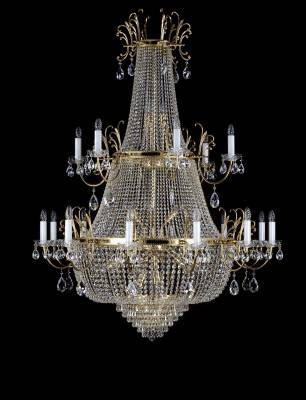 Big chandelier with strass trimmings L192CE