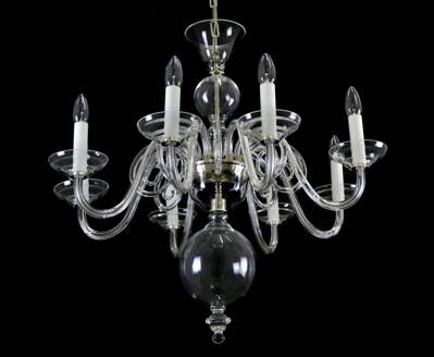 Clear Glass Chandelier LW513080100G
