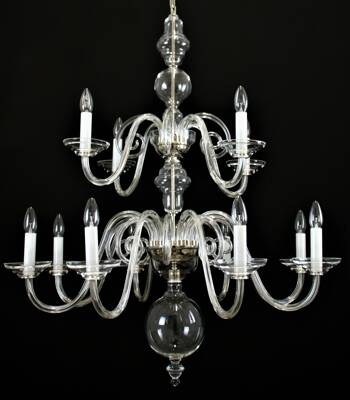 Clear Glass Chandelier LW513120100G