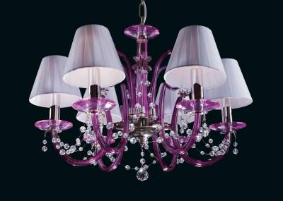 Chandelier violet with Shades EL214689