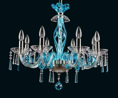 Chandelier crystal blue EL41883033